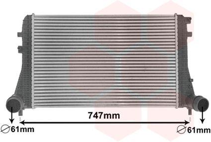 Intercooler, échangeur - VAN WEZEL - 58004306