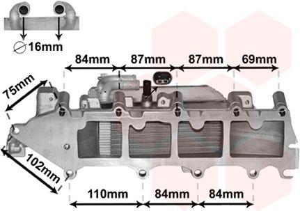 Intercooler, échangeur - VAN WEZEL - 58004357