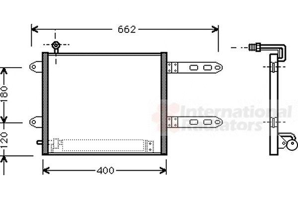Condenseur, climatisation - VAN WEZEL - 58005178