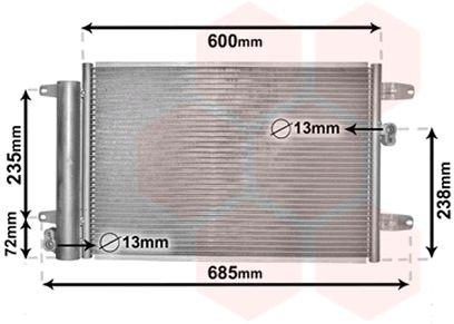 Condenseur, climatisation - VAN WEZEL - 58005183