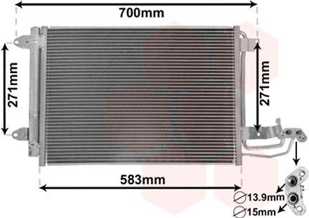 Condenseur, climatisation - VAN WEZEL - 58005209