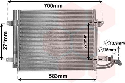 Condenseur, climatisation - VAN WEZEL - 58005211
