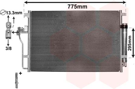 Condenseur, climatisation - VAN WEZEL - 58005277