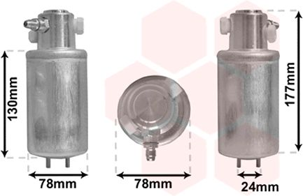 Filtre déshydratant, climatisation - VAN WEZEL - 5800D165