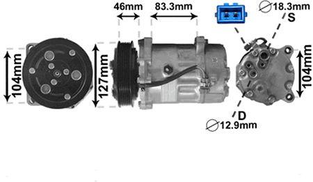Compresseur, climatisation - VAN WEZEL - 5800K050