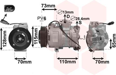 Compresseur, climatisation - VAN WEZEL - 5800K240