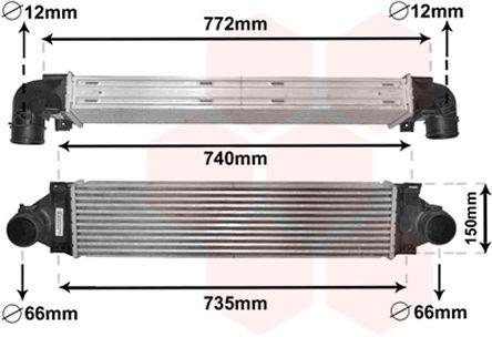 Intercooler, échangeur - VAN WEZEL - 59004173