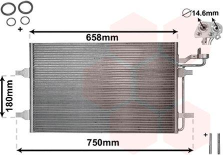 Condenseur, climatisation - VAN WEZEL - 59005140