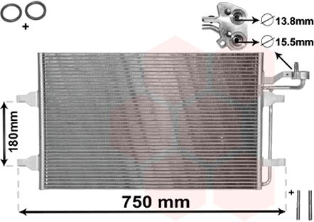 Condenseur, climatisation - VAN WEZEL - 59005149