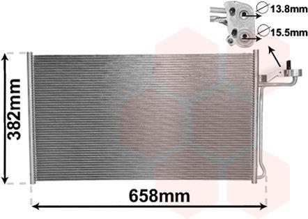Condenseur, climatisation - VAN WEZEL - 59005150