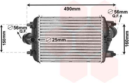 Intercooler, échangeur - VAN WEZEL - 74004081