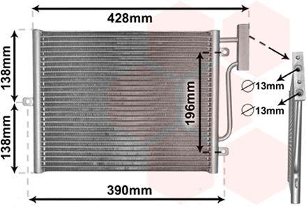 Condenseur, climatisation - VAN WEZEL - 74005038