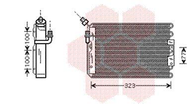 Condenseur, climatisation - VAN WEZEL - 74005042