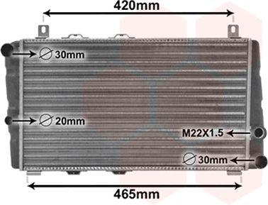 Radiateur, refroidissement du moteur - VAN WEZEL - 76002002