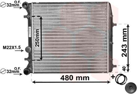 Radiateur, refroidissement du moteur - VAN WEZEL - 76002005