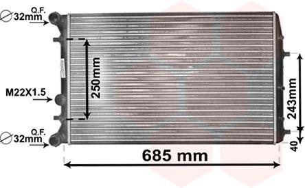 Radiateur, refroidissement du moteur - VAN WEZEL - 76002010