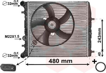 Radiateur, refroidissement du moteur - VAN WEZEL - 76002013