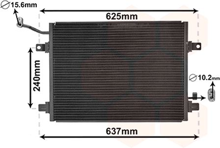 Condenseur, climatisation - VAN WEZEL - 77005048