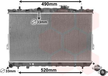 Radiateur, refroidissement du moteur - VAN WEZEL - 82002104
