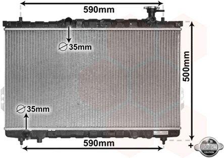 Radiateur, refroidissement du moteur - VWA - 88VWA82002109
