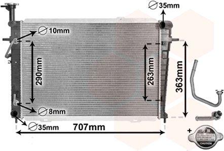 Radiateur, refroidissement du moteur - VAN WEZEL - 82002127