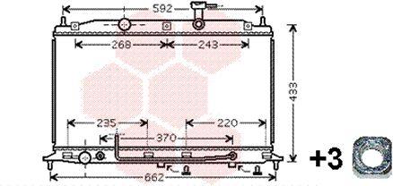 Radiateur, refroidissement du moteur - VAN WEZEL - 82002177
