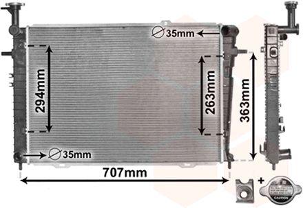 Radiateur, refroidissement du moteur - VAN WEZEL - 82002210