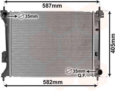 Radiateur, refroidissement du moteur - VAN WEZEL - 82002302