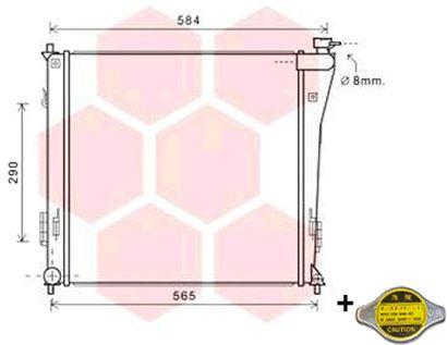 Radiateur, refroidissement du moteur - VWA - 88VWA82002303