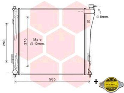 Radiateur, refroidissement du moteur - VAN WEZEL - 82002305