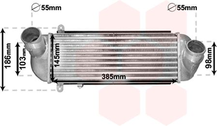 Intercooler, échangeur - VAN WEZEL - 82004212