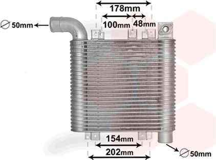 Intercooler, échangeur - VAN WEZEL - 82004359