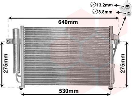 Condenseur, climatisation - VAN WEZEL - 82005087