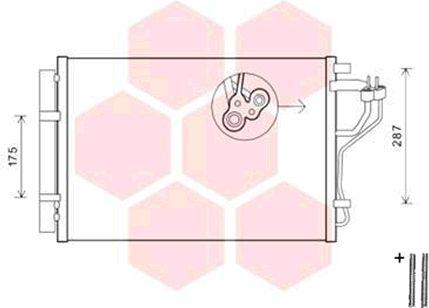 Condenseur, climatisation - VAN WEZEL - 82005308