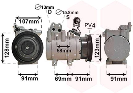 Compresseur, climatisation - VAN WEZEL - 8200K161
