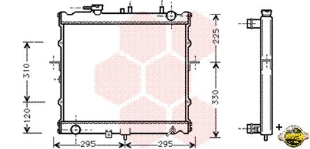 Radiateur, refroidissement du moteur - VWA - 88VWA83002022