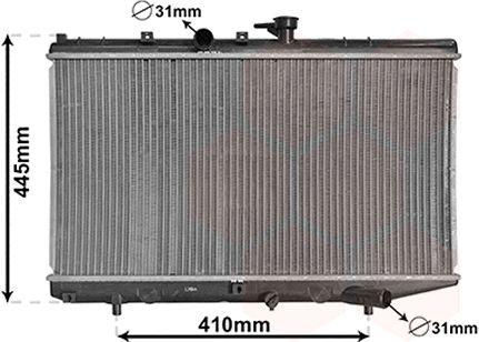 Radiateur, refroidissement du moteur - VAN WEZEL - 83002050
