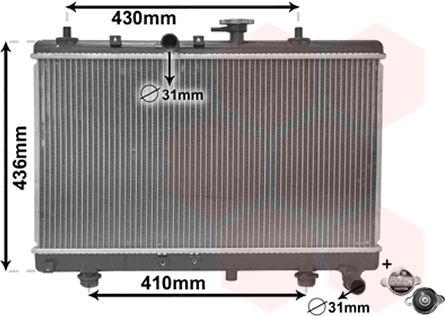 Radiateur, refroidissement du moteur - VWA - 88VWA83002054