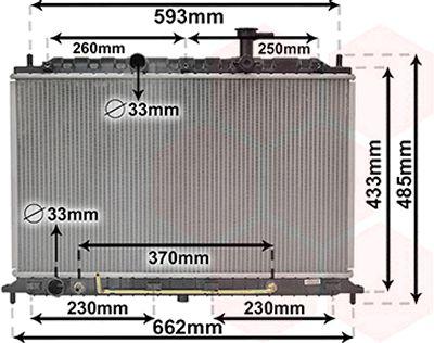 Radiateur, refroidissement du moteur - VAN WEZEL - 83002152