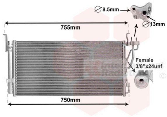 Condenseur, climatisation - VAN WEZEL - 83005210