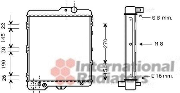 Radiateur, refroidissement du moteur - VWA - 88VWA03002002
