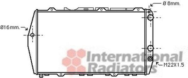 Radiateur, refroidissement du moteur - VAN WEZEL - 03002019