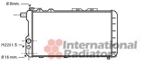 Radiateur, refroidissement du moteur - VAN WEZEL - 03002021