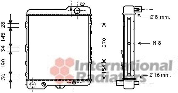 Radiateur, refroidissement du moteur - VAN WEZEL - 03002038
