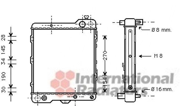 Radiateur, refroidissement du moteur - VAN WEZEL - 03002040