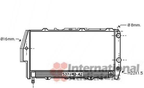 Radiateur, refroidissement du moteur - VAN WEZEL - 03002049