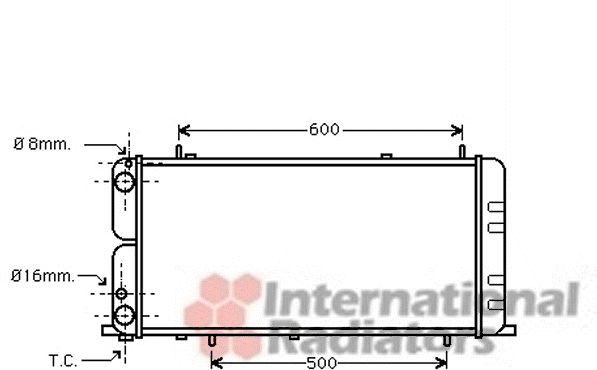 Radiateur, refroidissement du moteur - VWA - 88VWA03002051