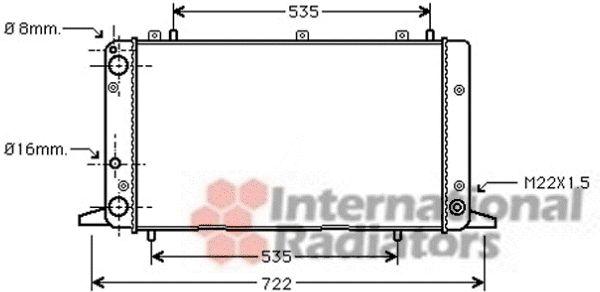 Radiateur, refroidissement du moteur - VAN WEZEL - 03002053