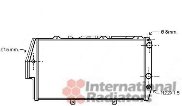 Radiateur, refroidissement du moteur - VAN WEZEL - 03002055