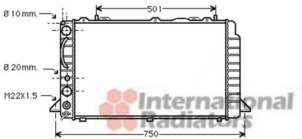 Radiateur, refroidissement du moteur - VWA - 88VWA03002059
